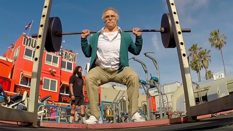 old guy muscle beach